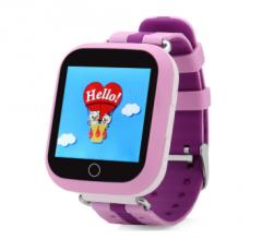 Оригинальные детские смарт часы с GPS WONLEX GW200S (Q100, Q100s, Q750) цвет фиолетовый