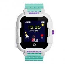Оригинальные детские смарт часы с GPS WONLEX KT03 цвет зеленый
