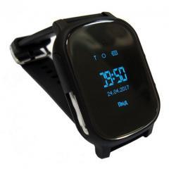 Оригинальные детские смарт часы с GPS WONLEX GW700 цвет черный