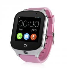 Оригинальные детские смарт часы с GPS WONLEX GW1000s (T100) цвет розовый