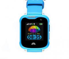 Оригинальные детские смарт часы с GPS WONLEX KT05 цвет голубой