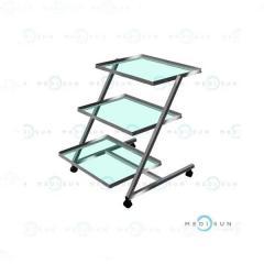 Столик медицинский для медицинских приборов СП-Н Завет, столик-этажерка передвижной на колесах