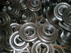 Cogwheels and shaft gear wheels of various