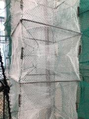 Раколовка усиленная 4м, 20х25см, 16 входов, белая, яч 5мм