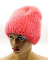 Меховая шапка норковая женская на вязаной основе