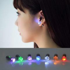 Серьги с LED подсветкой, оригинальное украшение