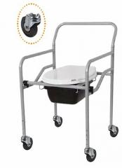Кресло с санитарным оснащением, с колесиками, регулируемое (KT-771) Golfi