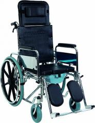 Коляска инвалидная, многофункциональная, с санитарным оснащением, без двигателя (Golfi-4) Golfi