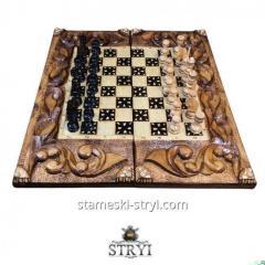Шахматы-Нарды резные из дерева,  ручная...