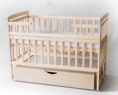 Кроватка - трансформер с ящиком DS1-03 натуральный, DESON