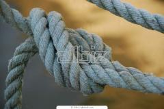 The rope is linen, rope. d from 8 mm to 50 mm