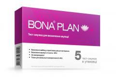Тест полоска для определения овуляции BONA PLAN, 5шт/уп BONA