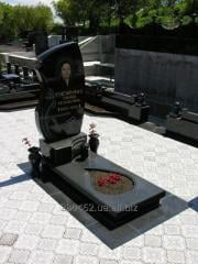 Products from granite. Monuments, plates, stone