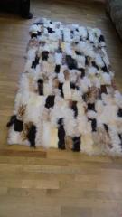 Доріжка з овечих шкір, цегляний шов