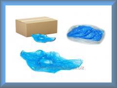 Бахилы одноразовые полиэтиленовые синие 10 мкн
