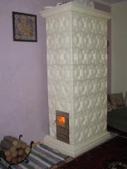 Heating stoves, glazed tile, heat accumulating