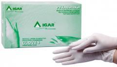 Перчатки медицинские латексные смотровые нестерильные опудренные IGAR
