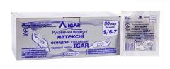 Перчатки медицинские латексные смотровые стерильные IGAR (бюджетная упаковка)