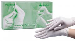 Перчатки медицинские латексные смотровые IGAR Sempercare нестерильные опудренные