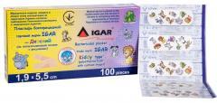 Пластырь бактерицидный IGAR тип Детский (на полиэтиленовой основе с рисунками)
