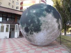 Inflatable decoration moon backlight