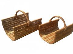 Набор плетеных корзин из лозы для камина из 2шт.