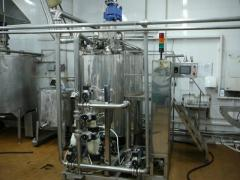 Equipment for production of mustard, ketchup,