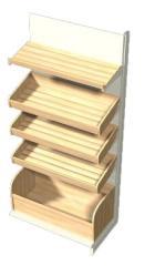 Стеллаж хлебный с деревянными полками