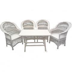 Белая мебель плетеная из лозы
