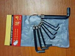 Шестигранники (набор) Inter Tool, 8 шт (HT-1841)