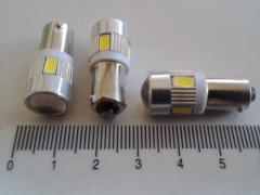 Лампа светодиод с/ц 12V T4W BA9s 6SMD (56 х 30) с