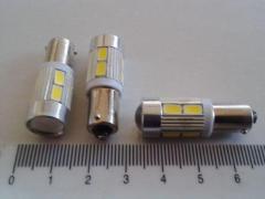 Лампа светодиод с/ц 12V T4W BA9s 10SMD (56 х 30) с