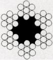 ТРОС оцинкованный DIN 3055 (6x7) в полиэтиленовой оплетке