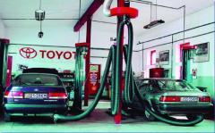 Системы удаления выхлопных газов от автомобилей