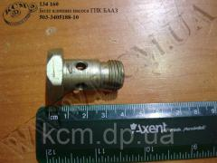Болт клапана насоса ГПК 503-3405188-10 БААЗ