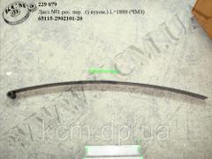 Лист 1 ресори перед. 65115-2902101-20 (L=1880, вите вухо) ЧМЗ