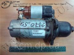 Стартер 5402.3708000-01 БАТЭ (редукторний, Z=10; 9 кВт; 24В, Евро-2, Евро-3)
