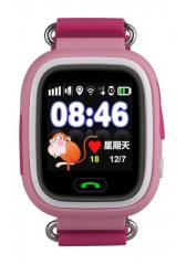 Оригинальные детские смарт часы с GPS WONLEX GW100 (Q90) цвет розовый