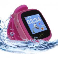 Оригинальные детские смарт часы с GPS WONLEX GW400S цвет розовый