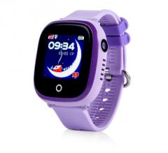 Оригинальные детские смарт часы с GPS WONLEX GW400x цвет фиолетовый