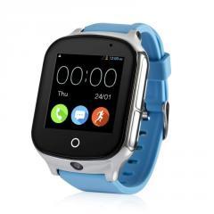 Оригинальные детские смарт часы с GPS WONLEX GW1000s (T100) цвет голубой