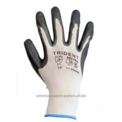 Перчатки Trident 608, с нитрилом для точных работ,
