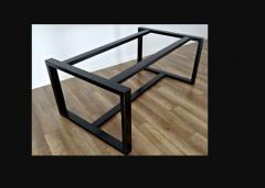 Стол металлический квадратное подстолье
