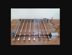 Электропривод для мангала на 8 шампуров