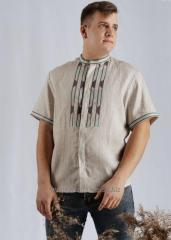 """Men's Embroidered Shirt """"geometry"""""""