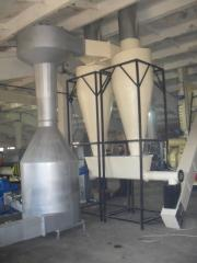 Drying installation for drying spirit bards, a