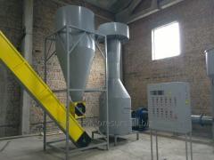 Dryers for sawdust, peat, a beer pellet, spirit