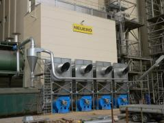Grain drying systems on the basis of the shaft