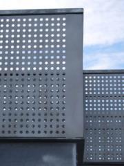 Архитектура.Перфорированный металлический лист для