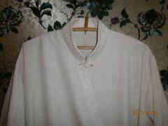 Cassock from flax